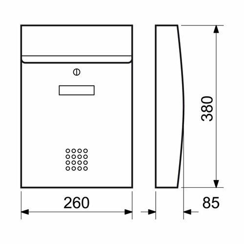 Poštová nerezová schránka BK.05.N, strieborná