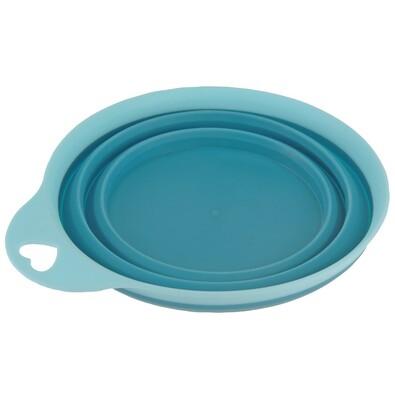 Összecsukható szilikon tál Colours, kék