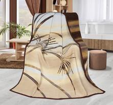 Koc Karmela plus Paprocie beżowy, 150 x 200 cm