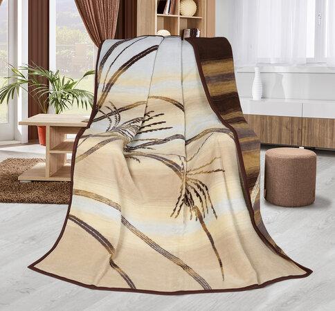 Karmela plus Páfrány takaró, bézs, 150 x 200 cm