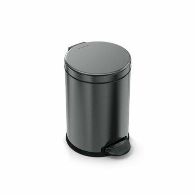 Simplehuman coș de gunoi cu pedală, rotund 4,5 l, negru