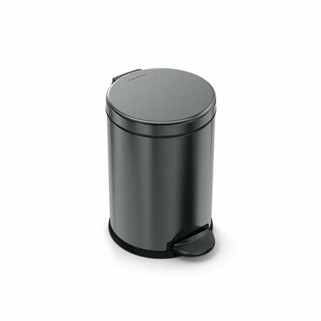 Simplehuman Kosz na śmieci okrągły pedałowy 4,5 l, czarny