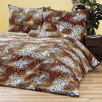 4Home bavlněné povlečení Leopard, 220 x 200 cm, 2 ks 70 x 90 cm