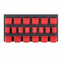 Függeszthető panel szerszámokhoz, 20 boxszal, Orderline, 80 x 16,5 x 40 cm