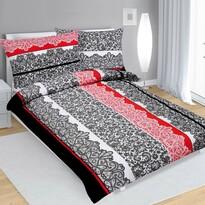 Bavlnené obliečky Čipka čierno-červená
