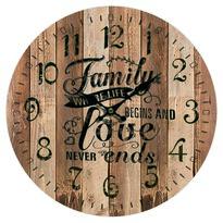 Family love fa falióra, átmérő: 34 cm