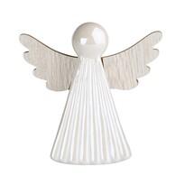 Altom Vánoční dekorace Anděl, bílá