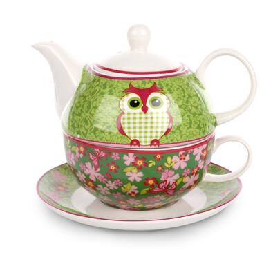 OWL 3dílná čajová sada v dárkové krabičce