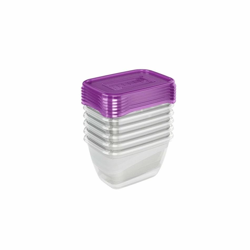 Keeeper Set dóz na potraviny vhodné do mrazničky fredo fresh, fialová 6x0,25L