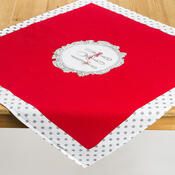 Ubrus Alice červená, 80 x 80 cm