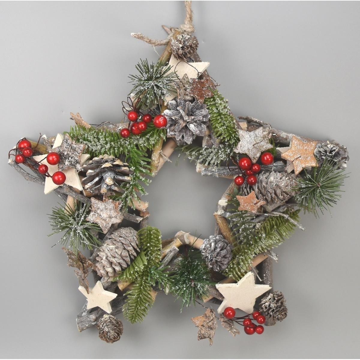 Vánoční závěsná hvězda Abilene, 34 cm
