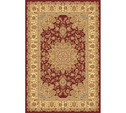 Kusový koberec Malaga klasik, hnědý se vzorem, 67 x 130 cm