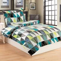 Lenjerie de pat din micro-pluș Tryon cyan, 140 x 200 cm, 70 x 90 cm