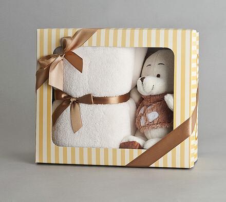 Dětský set ručník s medvídkem, béžový