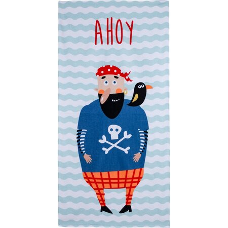 Ahoj Pirate strandtörölköző, 70 x 140 cm