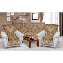 Narzuty na kanapę i fotele Karmela plus 3+1+1 Pnący kwiat, 1 szt. 150 x 200 cm, 2 szt. 65 x 150 cm