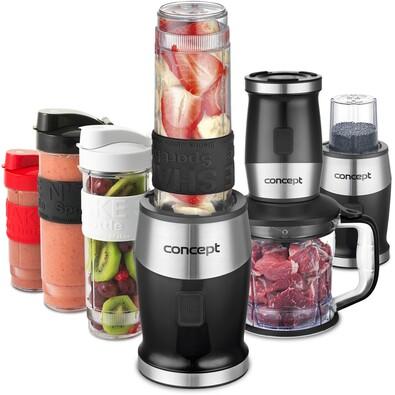 Concept SM3390 Fresh&Nutri multifunkčný mixér, 700 W + fľaše 2x 570 ml + 400 ml, čierna