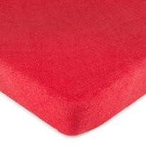 4Home prześcieradło frotte czerwone, 160 x 200 cm