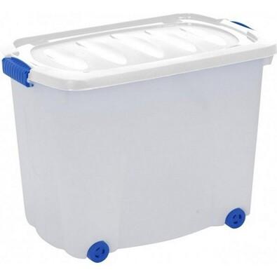 Kaiserhoff Úložný box pojízdný 60 l bílá