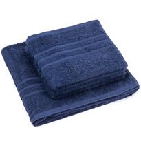 Sada ručníků a osušky Classic tmavě modrá, 2 ks 50 x 100 cm, 1 ks 70 x 140 cm