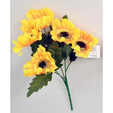 Sztuczny kwiat  Słonecznik żółty, 37 cm