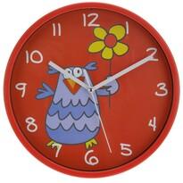 Ceas de perete Owl, roşu, 23 cm