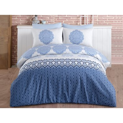 Bavlněné povlečení Trevi Blue, 140 x 220 cm, 70 x 90 cm