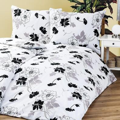Bavlněné povlečení Tapeta černobílá, 140 x 220 cm, 70 x 90 cm