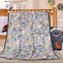 Pătură de copii Ella Unicorn, 100 x 155 cm