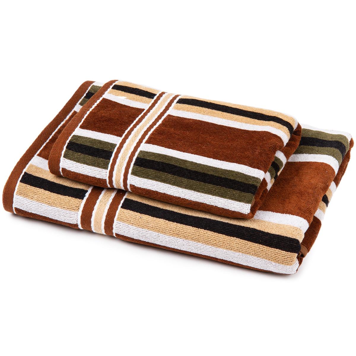 Jahu Sada Stripes Harmonized ručník a osuška, 70 x 140 cm, 50 x 90 cm