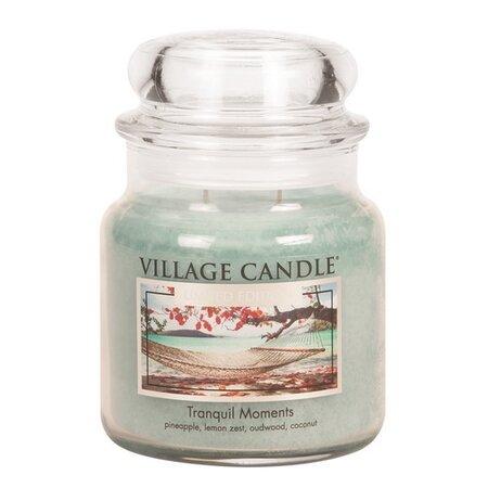 Village Candle Vonná sviečka v skle Jedinečné chvíle - Tranquil Moments, 397 g
