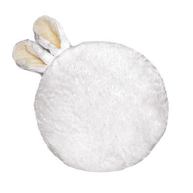 Domarex Polštářek Soft Bunny plus bílá, průměr 35 cm