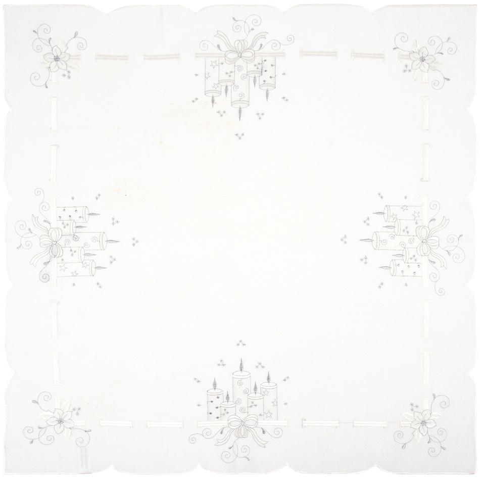 Forbyt Vánoční ubrus Svíčky, 85 x 85 cm