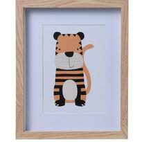 Drewniana ramka na fotografię Hatu Tygrys, 22,5 x 3 x 27,8 cm