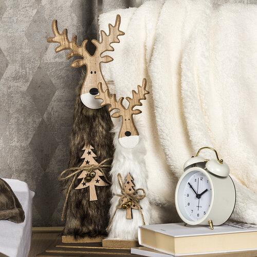 Karácsonyi fa Rénszarvas Ervin szürke, 30 cm