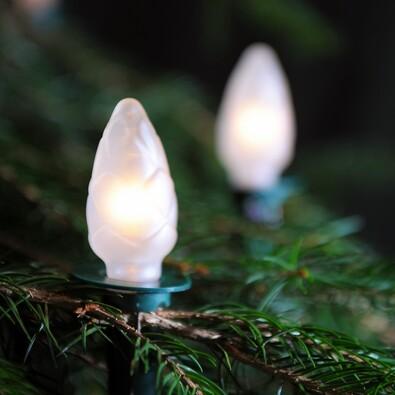 Světelný řetěz Šiška bílá, 12 žárovek