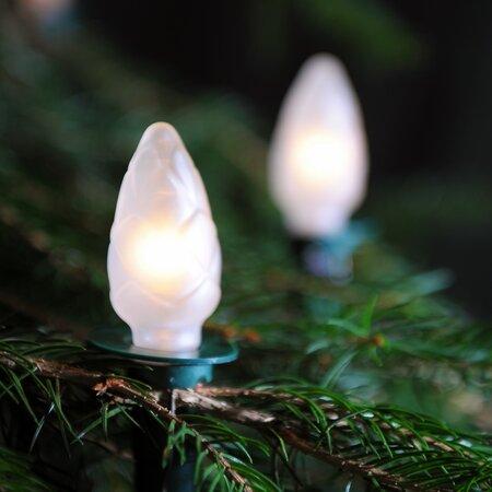 Svetelná reťaz Šiška biela, 12 žiaroviek