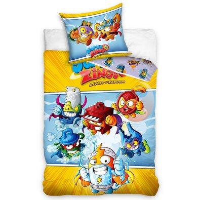SuperWings Mission gyermek pamut ágynemű, 140 x 200 cm, 70 x 90 cm