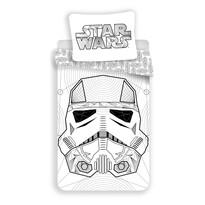 Jerry Fabrics Bavlněné povlečení Star Wars white, 140 x 200 cm, 70 x 90 cm