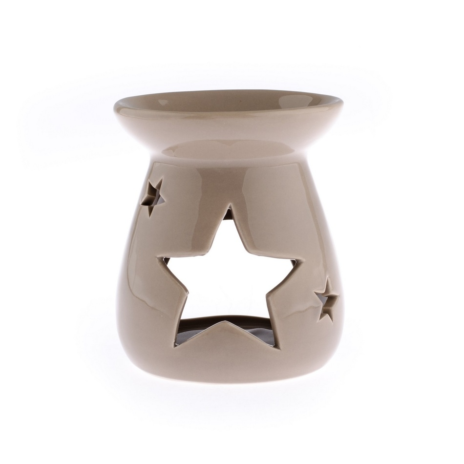 Keramická aromalampa Hvězda, hnědá