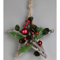 Gwiazda bożonarodzeniowa do zawieszenia Green pine, 20 cm