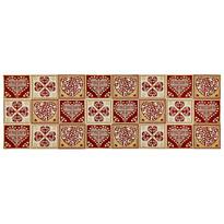 Behúň Srdce červená, 32 x 96 cm