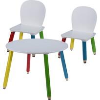 Dětský set židliček a stolečku Pastelky, 3 ks