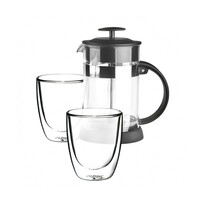 Altom 3-częściowy komplet dzbanek na herbatę i kawę ze szklankami Andrea
