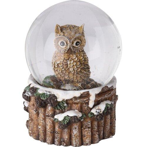 Dekoračné snežítko Sova, 6,5 cm