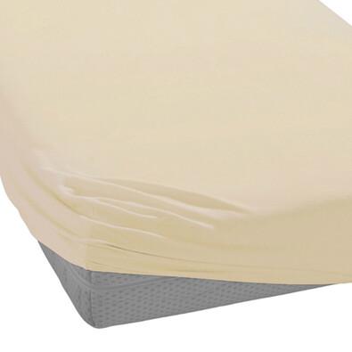 BedTex froté prostěradlo béžová, 90 x 200 cm