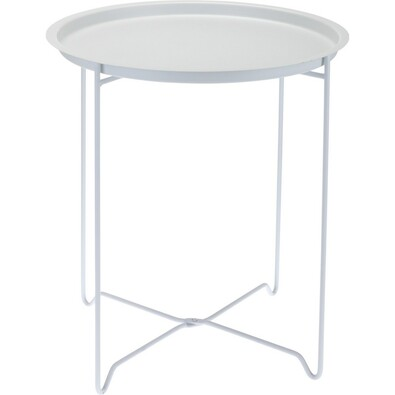 Kovový stolík biela, 48 cm