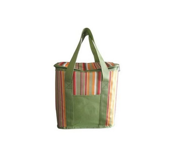 Chladící taška zelená s barevnými pruhy, Vetro Plus, 20 l
