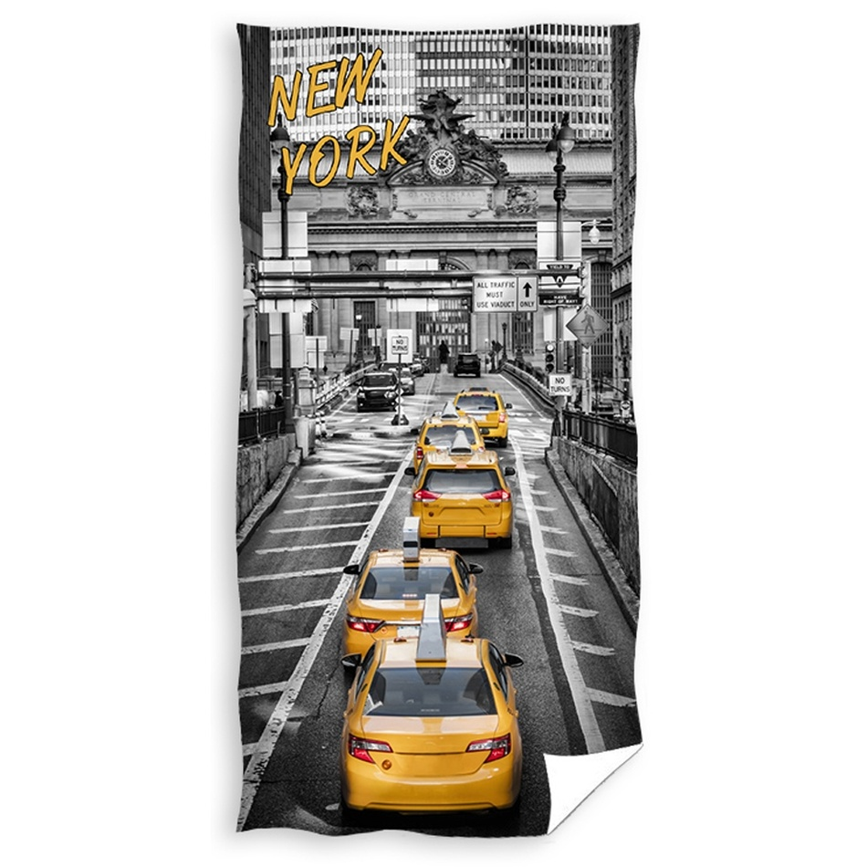 CARBOTEX Osuška New York Yellow Cabs, 70 x 140 cm