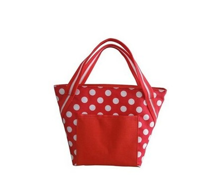Chladící taška, bílá + červená, 8 l, Vetro Plus, bílá + červená